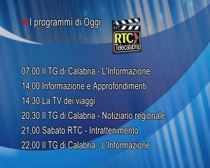 In Radio, TV e Web su RTC – Programmi di Sabato 23 Ottobre